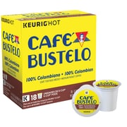 Cafe Bustelo® 100% Colombian, Regular Keurig® K-Cup® Pods, 18 Count