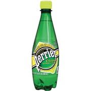 Perrier Sparkling Natural Mineral Water, Citron/Lemon Lime, 16.9 oz., 24/Pk