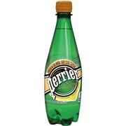 Perrier Sparkling Natural Mineral Water, L'Orange/Lemon Orange, 16.9 oz., 24/Pk