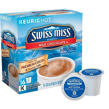 Swiss Miss® Milk Chocolate Hot Cocoa, Keurig® K-Cup® Pods, 16 Count