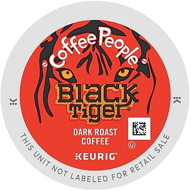 Keurig® K-Cup® Coffee People® Black Tiger Coffee, Regular, 24/Pack