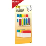 "Post-it® Flags & Tabs Value Pack, Assorted Colors, 200 - 1/2"" Flags, 30 - 2"" Solid Tabs, 230/Pack"