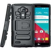 i-Blason LG G4 Case Prime Dual Layer Holster Case, Black