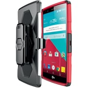 i-Blason LG G4 Case Prime Dual Layer Holster Case, Red