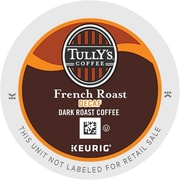 Tully's Coffee® French Roast Decaf Coffee K-Cups®, 96/Carton (192419)