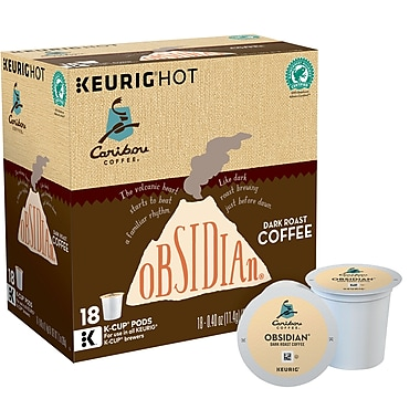 Caribou Coffee® Obsidian®, Keurig® K-Cup® Pods, 18 Count ...