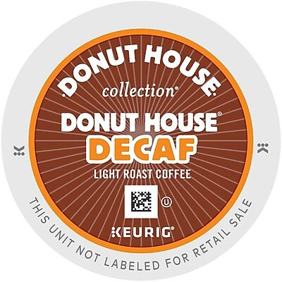 Keurig K-Cup Donut House Collection Coffee, Decaffeinated, 24 K-Cups/Pack 884632