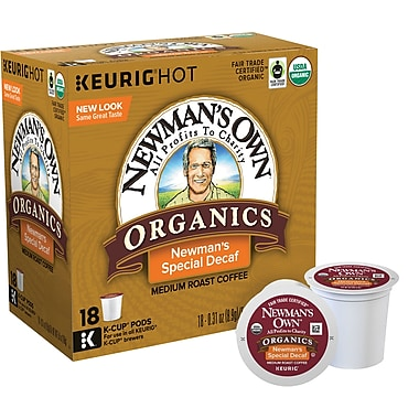 Keurig&reg K-Cup Newman's Own Organics Special Decaf Coffee, 18 Pack