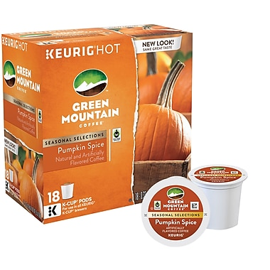 Green Mountain Coffee® Pumpkin Spice, Regular Keurig® K-Cup® Pods, 18 Count