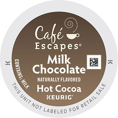 Cafe Escapes Milk Chocolate Hot Cocoa K-Cups, 96/Carton (6801) GMT6801CT