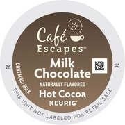 Cafe Escapes® Milk Chocolate Hot Cocoa K-Cups®, 96/Carton (6801)