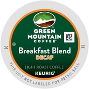 Keurig® K-Cup® Green Mountain® Breakfast Blend Decaf Coffee, Decaffeinated, 24 Pack