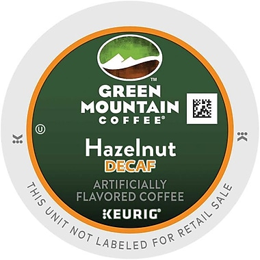 Keurig® K-Cup® Green Mountain® Hazelnut Decaf Coffee, Decaffeinated, 24/Pack