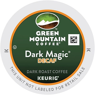 Keurig K-Cup Green Mountain Dark Magic Extra Bold Decaf Coffee, Decaffeinated, 96/Carton (4067) GMT4067CT