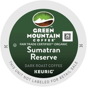 Green Mountain Coffee® Organic Sumatran Reserve K-Cup® Pods, 96 Count