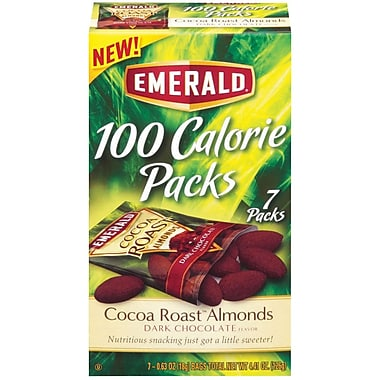Emerald® 100 Calorie Pack Dark Chocolate Cocoa Roast Almonds, .62 oz. Packs, 7 Packs/Box