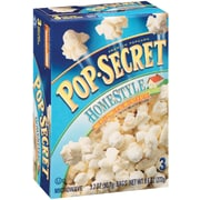 Pop Secret Microwave Popcorn, Homestyle, 3.2 oz. Bags, 3 Bags/Box