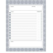 "Kahootie Co™ Project Planner  Notepad, 8.5"" x 11"", 50 sheets per pad, Gray (PPOL)"