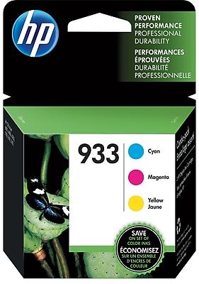 HP 933 C M Y Color Ink Cartridges N9H56FN 140 Combo 3 Pack