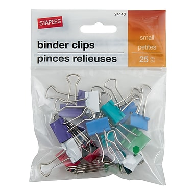Staples® Binder Clips, Small 3/4