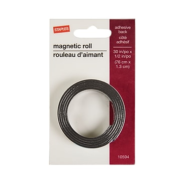 Staples® Magnetic Tape Roll, 1/2