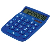 Avalon 8 Digit Dual Powered Desktop Calculator, LCD Display, Blue