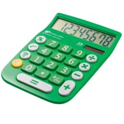 Avalon 8 Digit Dual Powered Desktop Calculator, LCD Display, Green