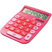 Avalon 8 Digit Dual Powered Desktop Calculator, LCD Display, Pink