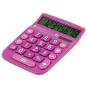 Avalon 8 Digit Dual Powered Desktop Calculator, LCD Display, Purple