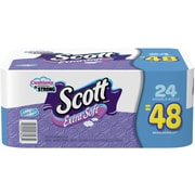 Scott® 1-Ply Extra Soft Bath Tissue Rolls, Unscented, 24/Pack