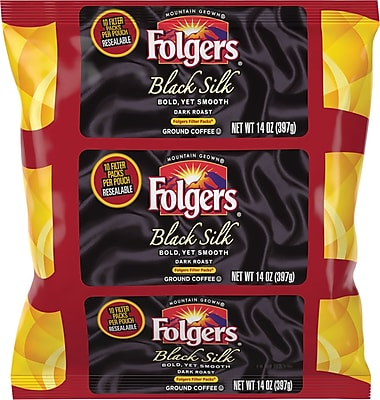 Folgers Black Silk Coffee Filter Packs, 1.4 oz., 40/Bx 2070325