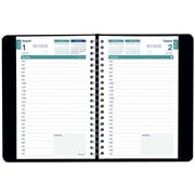 August 2016 - July 2017, Brownline® Daily Academic Planner, 8 x 5, Black (CA201.BLK)