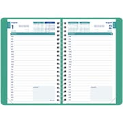 August 2016 - July 2017, Brownline® Daily Academic Planner, 8 x 5, Emerald (CA201.EME)