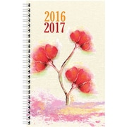 August 2016 - July 2017, Brownline® Daily Academic Planner, 8 x 5, Red Flower Watercolor (CA201PT.ASX)