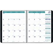 July 2016 - August 2017, Brownline® 14-Month Academic Planner, 11 x 8 1/2, Black (CA701.BLK)