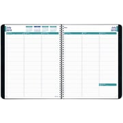 July 2016 - July 2017, Blueline® Weekly/Monthly Academic Planner, 11 x 8 1/2, Black (CA958.BLK)