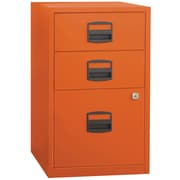 Bisley® Three Drawer Steel Home or Office Filing Cabinet, Orange (FILE3-OR)