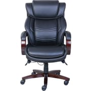 La-Z-Boy Dresden Leather Executive Office Chair, Fixed Arms, Black (47072)