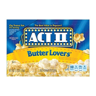ACT II Butter Lovers Popcorn 48/Pack 2.75 Oz.