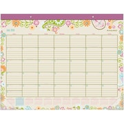 "2016-2017 AT-A-GLANCE® Garden Party Academic Monthly Desk Pad, 12 Months, July Start, 21 3/4"" x 17"", Design (D150-704A)"