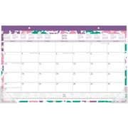 "2016-2017 Staples® Compact Academic Monthly Desk Pad, 12 Months, July Start, 17 3/4"" x 10 7/8"", Design (28867)"
