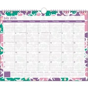 "2016-2017 Staples® Medium Academic Monthly Wall Calendar, 12 Months, July Start, 14 7/8"" x 11 7/8"", Design (27110)"