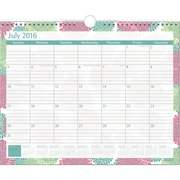 "2016-2017 Staples® Medium Academic Monthly Wall Calendar, 12 Months, July Start, 14 7/8"" x 11 7/8"", Design (27107)"