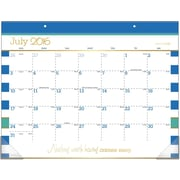 "2016-2017 AT-A-GLANCE® Color Pop Academic Desk Pad Calendar, 12 Months, July Start, 21 3/4"" x 15 1/2"", Design (D173-704A)"