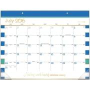 "2016-2017 AT-A-GLANCE® Color Pop Academic Desk Pad Calendar, 12 Months, July Start, 21 3/4"" x 15 1/2"", Design (D173-704A)"