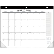 "2016-2017 Upper Class® Student Academic Monthly  Desk Pad, 12 Months, August Start, 21 3/4"" x 17"", White (TL2417)"
