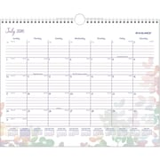 "2016-2017 AT-A-GLANCE® Aura Blooms Academic Monthly Wall Calendar, 12 Months, July Start, 14 7/8"" x 11 7/8"", Design (W185-707A)"