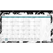 "2016-2017 AT-A-GLANCE® Madrid Compact Academic Monthly Desk Pad, 12 Months, July Start, 17 3/4"" x 10 7/8"", Design (SK93-705A)"
