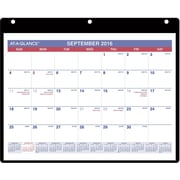 "2016-2017 AT-A-GLANCE® Academic Monthly Desk/Wall Calendar, 16 Months, September Start, 11"" x 8 1/4"", White (SK700)"