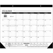 "2016-2017 AT-A-GLANCE® Academic Monthly Desk Pad, 16 Months, September Start, 22"" x 17"", White (SK241600)"